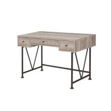 Guthrie Industrial Grey Driftwood Writing Desk