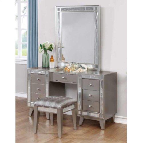 Elegant Vanity Table, Mirror and Stool