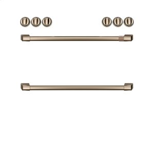 Cafe AppliancesFront Control Induction Knobs and Handles - Brushed Bronze