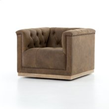 Umber Grey Cover Maxx Swivel Chair
