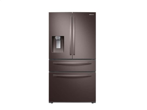 23 cu. ft. 4-Door French Door, Counter Depth Refrigerator with FlexZone Drawer in Tuscan Stainless Steel