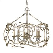 Colette 6 Light Chandelier in White Gold