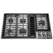 "36"" 5 Burner Gas Downdraft Cooktop - Stainless Steel Product Image"