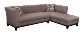 Lsf Sofa-rsf Chaise Tobacco W/2 Accent Pillows