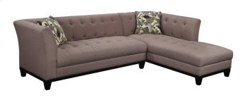 Lsf Sofa-rsf Chaise Tobacco W/2 Accent Pillows Product Image