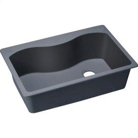 "Elkay Quartz Classic 33"" x 22"" x 9-1/2"", Single Bowl Top Mount Sink, Dusk Gray"