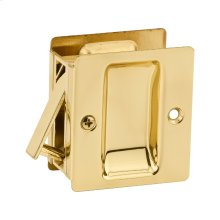 Notch Hall/Closet Pocket Door Lock - Polished Brass