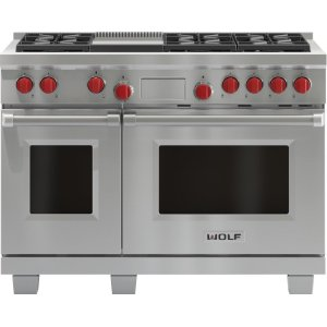 "Wolf48"" Dual Fuel Range - 6 Burners and Infrared Griddle"