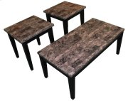 Black Faux Marble Coffee & End Table Set Product Image