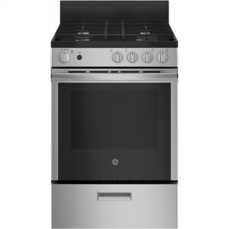 "GE 24"" Gas Freestanding Range with Removable Storage Drawer Stainless Steel - JCGAS640RMSS"