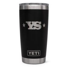 YETI Rambler 20 oz Tumbler with Yoder Smokers Logo