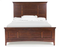Complete Queen Panel Bed with Storage Rails