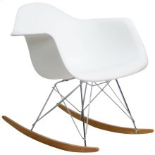 Rocker Plastic Lounge Chair in White