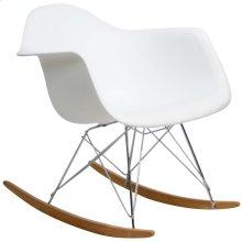 Rocker Plastic Lounge Chair in White