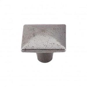 Square Iron Knob Smooth 1 3/8 Inch - Cast Iron