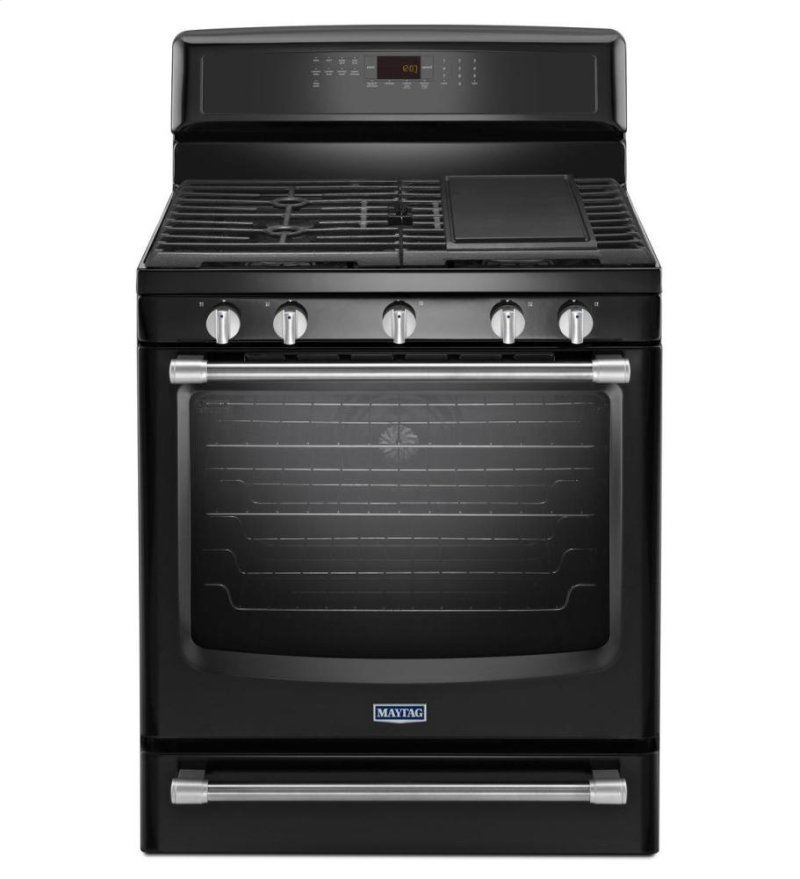 Mgr8800de In Black By Maytag Stamford Ct Gas Freestanding Stove With Griddle 5 8 Cu Ft
