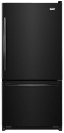 Black-on-Black Whirlpool Gold® ENERGY STAR® Qualified 22 cu. ft. Bottom Mount Refrigerator