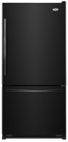 Black-on-Black Whirlpool Gold® ENERGY STAR® Qualified 22 cu. ft. Bottom Mount Refrigerator