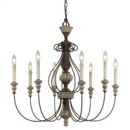 8 Ltg Williams Metal Chandelier Product Image