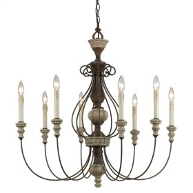 8 Ltg Williams Metal Chandelier