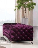 Divani Casa Delilah Modern Purple Fabric Loveseat Product Image