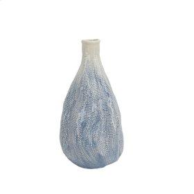 "Distorted White/blue Vase 15.5"""