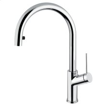 Pull-down single stream mode kitchen faucet