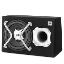 GT-BASSPRO12 Subwoofer speaker with built-in 150W RMS amplifier with bass port for a surprising bass experience