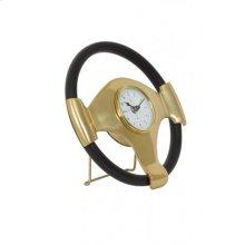 Clock 26x5 cm STEERING bronze-black