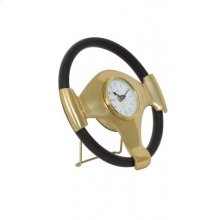 Clock 26x5 cm STEERING bronze-black