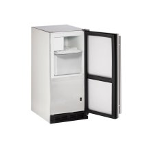 "Outdoor Series 15"" Outdoor Crescent Ice Maker With Stainless Solid Finish and Field Reversible Door Swing (115 Volts / 60 Hz)"