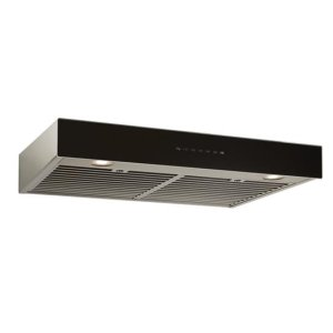 BestIspira 30-in. 500 CFM Stainless Steel Under-Cabinet Range Hood with PURLED Light System and Black Glass, ENERGY STAR certified