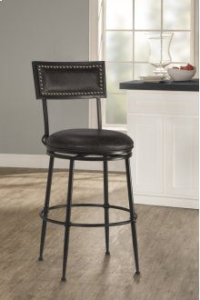 Thielmann Commercial Swivel Counter Stool - Dark Charcoal/charcoal