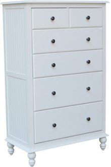6-Drawer Chest Beach White