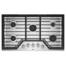 36-inch Gas Cooktop with EZ-2-Lift Hinged Cast-Iron Grates Product Image