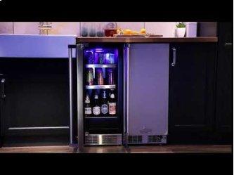 15-In Professional Built-In Beverage Center with Door Style - Stainless Steel Frame Glass, Door Swing - Left