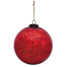 "10"" Classic Red Ball Ornament"