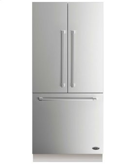 """DCS Activesmart Refrigerator 36"""" Integrated French Door With Ice - 80"""" / 84"""" Tall"""