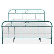 Complete King Metal Bed - Blue
