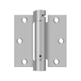"3 1/2""x 3 1/2"" Spring Hinge - Brushed Stainless"