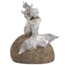 Mermaid on Rock Statue