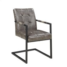 Industrial Dark Brown Dining Armchair