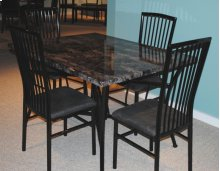 Black and Faux Marble 5 Pc Dinette