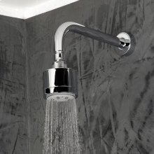 Wall-mount tilting round shower head, five jets. Arm and flange sold separately