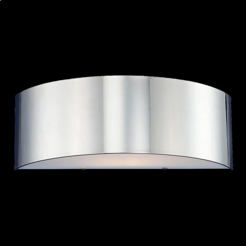 2-LIGHT WALL SCONCE - Chrome
