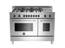 48 6-Burner+Griddle, Electric Self-Clean Double oven Stainless