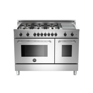 48 6-Burner+Griddle, Electric Self-Clean Double oven Stainless -