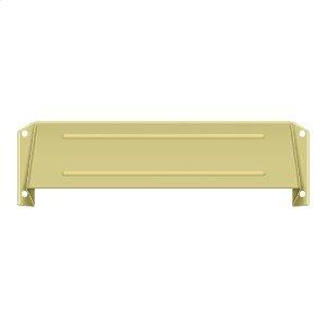 Letter Box Hood - Polished Brass