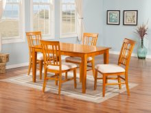 Montego Bay 36x48 Dining Set in Caramel Latte