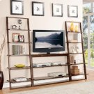 Lean Living - Leaning Bookcase - Burnished Brownstone Finish Product Image